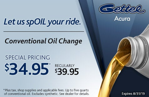 Acura Oil Change Coupon >> Oil Change Coupon Gettel Acura Specials Sarasota Fl